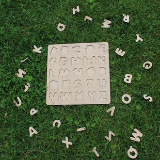 Деревянный алфавит, азбука, абетка (RU,EN,UA)