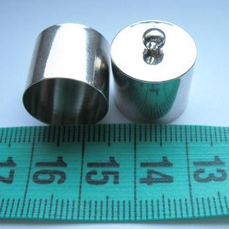 Колпачки цвета платина, сталь. 18 на 16 мм.