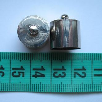 Колпачки цвета платина, сталь. 16 на 14 мм.