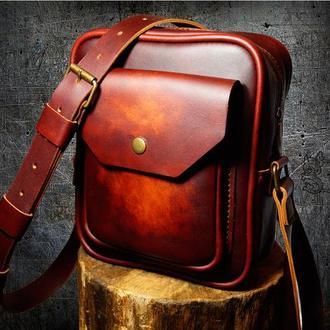 Кожаная мужская сумка - ELEGANT