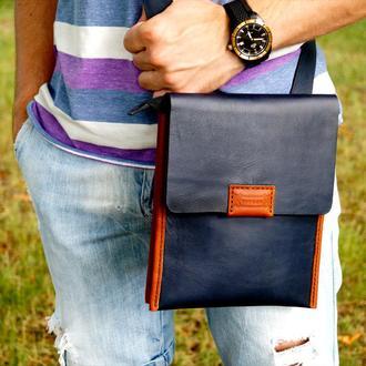 Кожаная мужская сумка DANDY