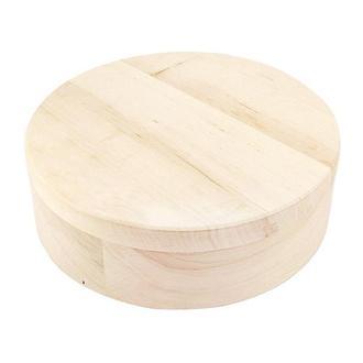 Шкатулка круглая 18 см, ольха