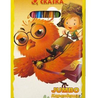 Карандаши цветные толстые 12цв. Camis JUMBO Сказка, с точилкой 70012TKT