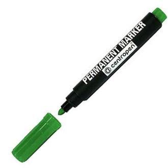 Маркер перманентный CENTROPEN 8566 круглый носик 2.5 мм_Зеленый