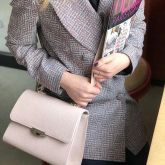 Кожаная сумка, женская кожаная сумка,сумка каркасная, пудровая сумка
