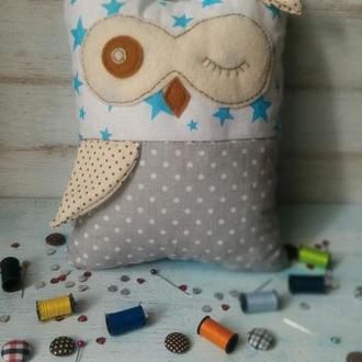 Сова, игрушка-подушка Совушка