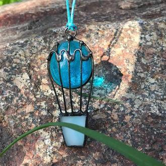 Подвеска Воздушный шар голубой