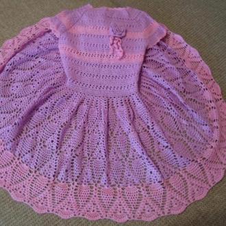 Праздничное ажурное платье Ананасы