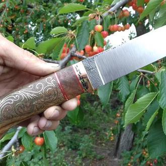 Нож ручной работы ''Два металла''