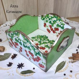 Короб для кухни «Клубничка»
