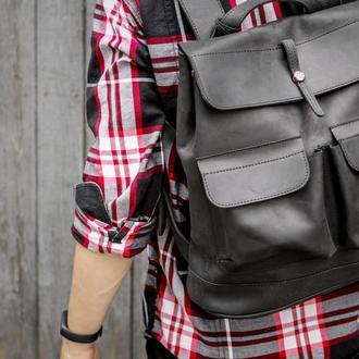 """Кожаный рюкзак """"Боббер"""""""
