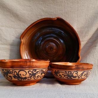 Набір керамічних тарілок