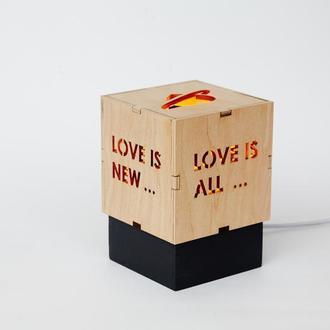 """Світильник ручної роботи """"Love is..."""""""