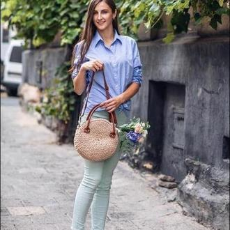 Женская сумка из шнура