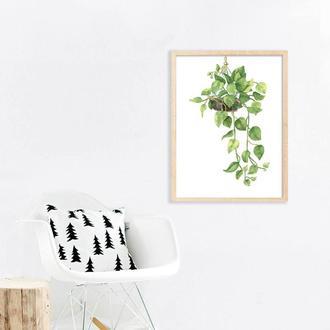 Графический постер Растение