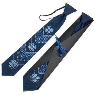 Подростковый вышитый галстук № 791