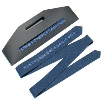 Узкий вышитый галстук №761