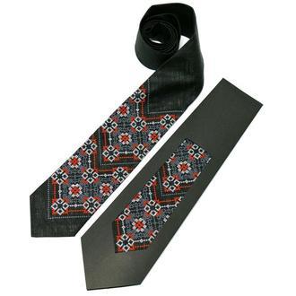 Вишиту краватку з льону №679