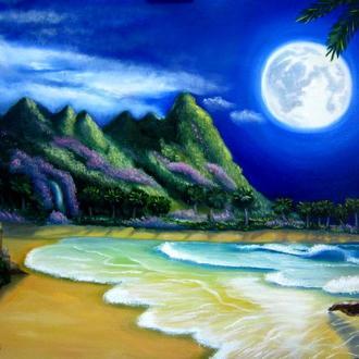 """морской пейзаж """"Луна"""""""