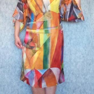 Платье-кимоно ручной работы