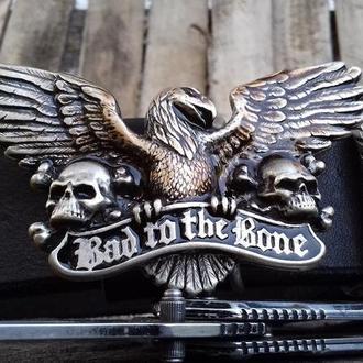 """Шкіряний пасок """"Bad 2 the Bone"""""""
