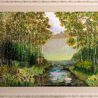 Золота осінь у лісі (розмір  65х45, в рамці 81х61)