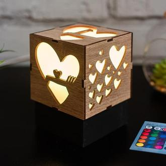 """Нічник """"Любов"""" з RGB лампою"""