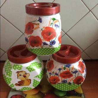Стеклянные баночки для продуктов