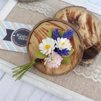 """Брошь цветочный букет """"Луговая"""", брошь с цветами"""