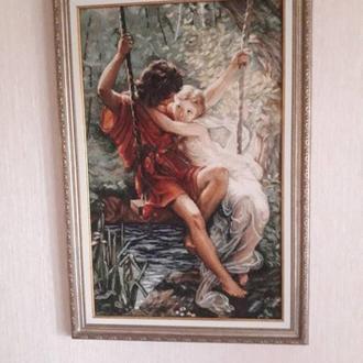 """Картина """"На Лиане"""" крестиком"""