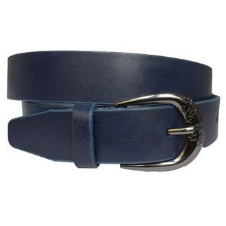 Classic1 синий женский кожаный ремень под джинсы кожанный пояс кожа