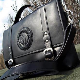 Мужская именная сумка-портфель