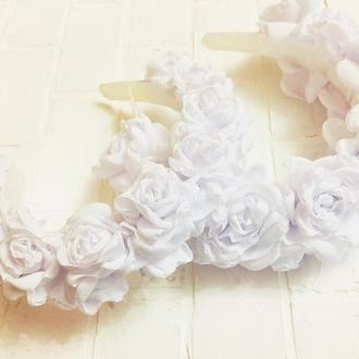 """Обруч """"Розы белые"""""""