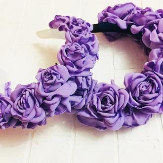 """Обруч """"Фиолетовые розы"""""""