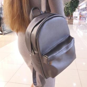 Модный женский рюкзак металик