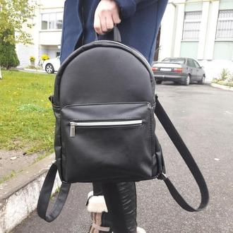 Красивый модный вместительный женский рюкзак черный