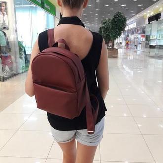 Модный женский рюкзак бордо