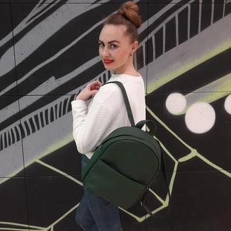Красивый модный женский рюкзак зеленый