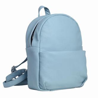 Крутой рюкзак женский голубой