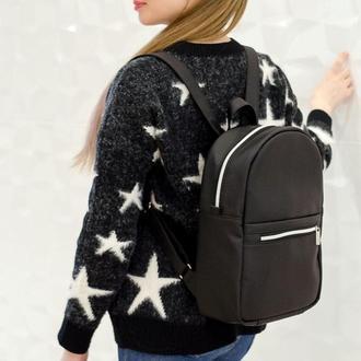 Красивый женский рюкзак черный