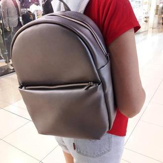 Очень красивый женский рюкзак металик