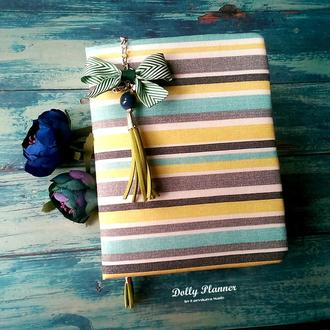 Желто-голубой полосатик