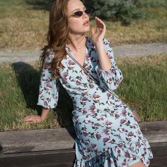 Легкое платье усыпанное цветами 2154