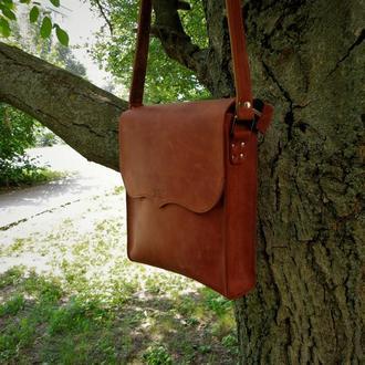 Кожаная сумка. Мужская сумка.