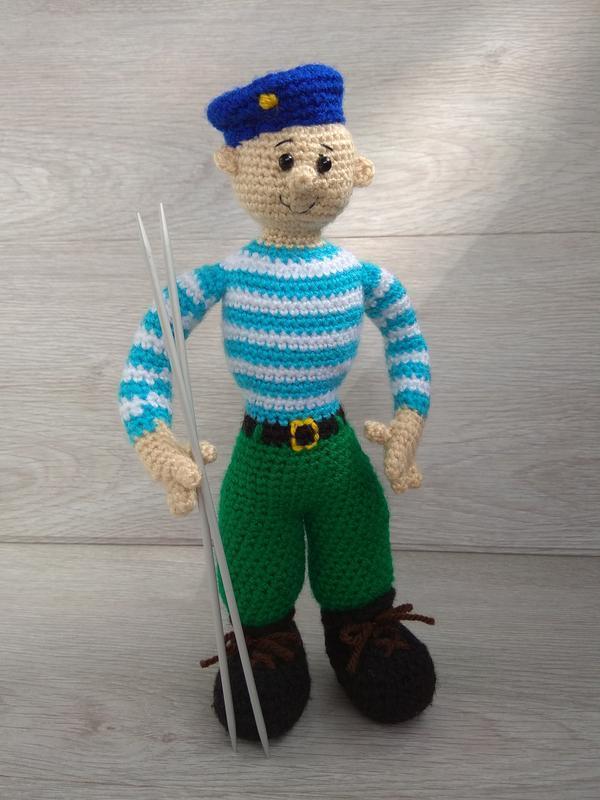 солдат десантник вдв мягкая игрушка вязаная крючком ручная работа