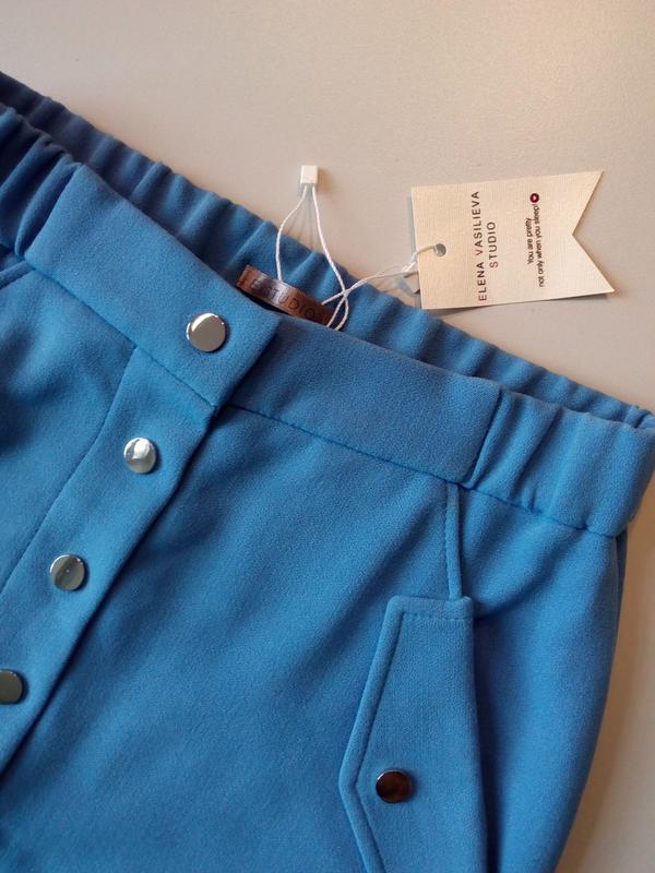 Стильная юбка цвета электрик скидка