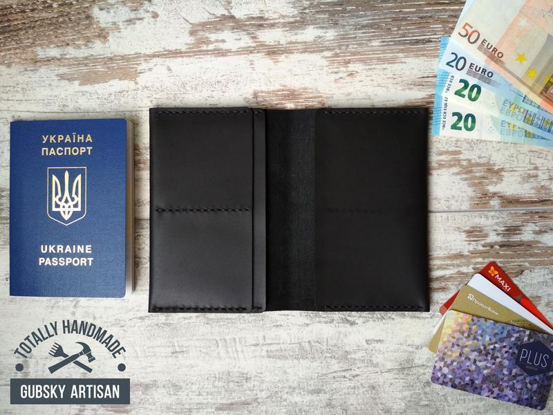 Обкладинка для паспорта обложка для паспорта и карт гаманець шкіряний