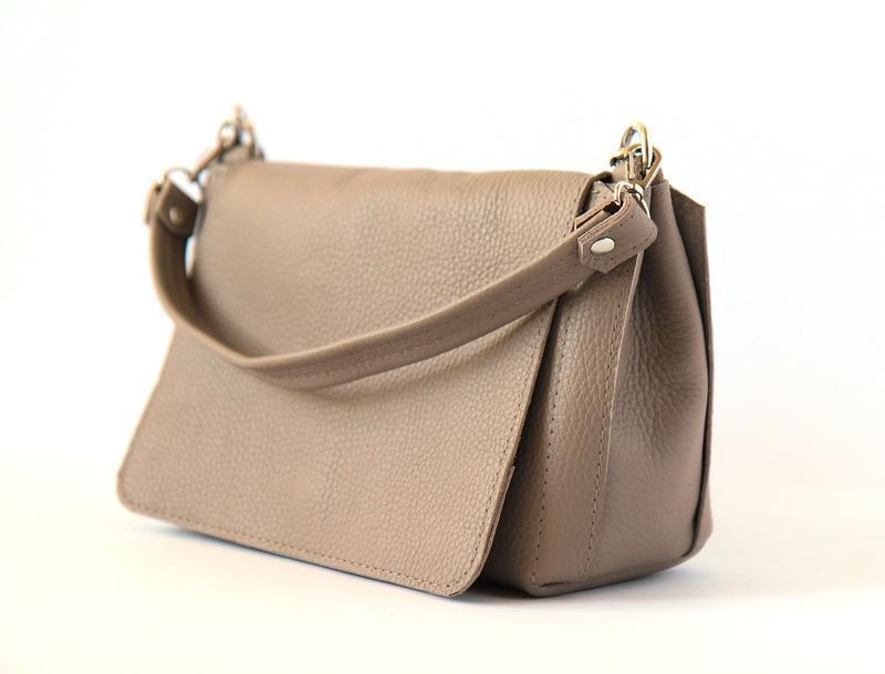 c861a0aac0a3 Бежевая кожаная сумка ручной работы купить в Украине. №275258
