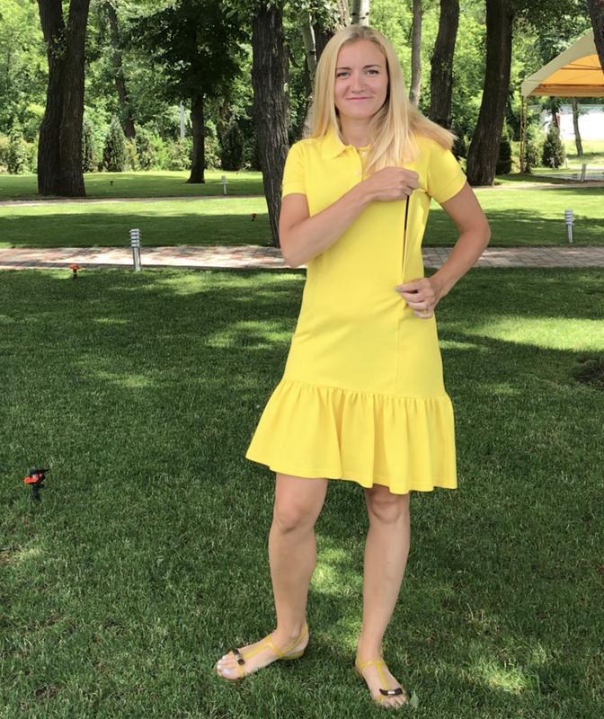 Платье-поло Желтое