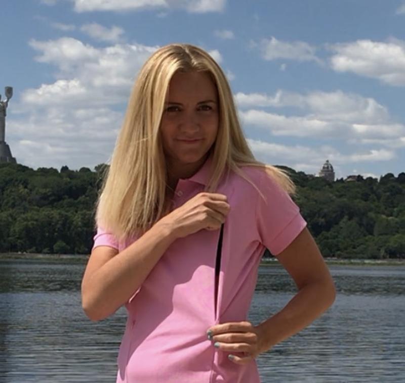 Платье-поло Розовое
